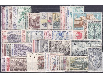 1958, kompletní ročník výplatních známek, **, ilustrační foto