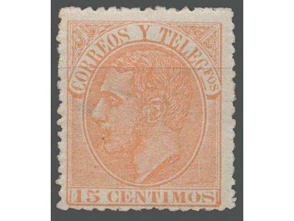 1882, 15C Alfons, MiNr.186b, * po nálepce