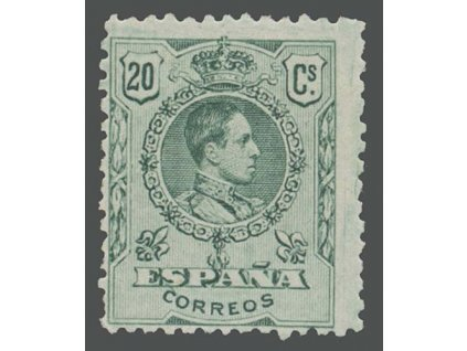 1909, 20C Alfons, MiNr.235A, * po nálepce