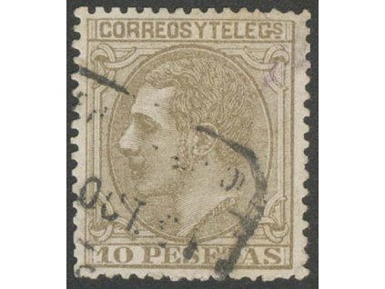 1879, 10 Pta Alfons, MiNr.185, razítkované