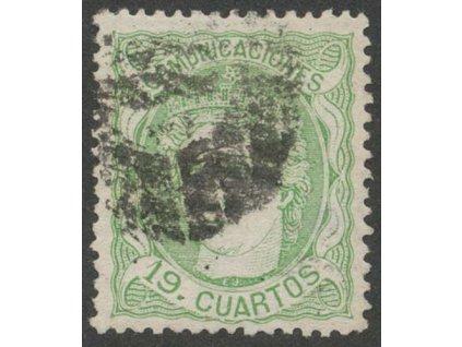 1870, 19 Cs Hispania, MiNr.108, razítkované, nepatrný lom