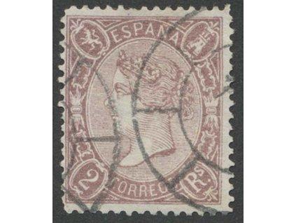 1865, 2 R Isabella, MiNr.72, razítkované, drobný vlom