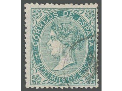 1868, 200 M Isabella, MiNr.95, razítkované