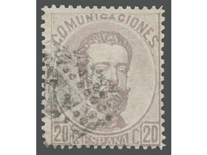 1873, 20C Amadeo, MiNr.123, razítkované