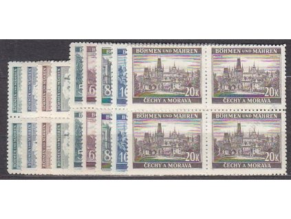 1940, 50h-20K Krajiny, série, 4bloky, Nr.41-9, **