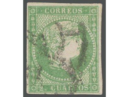 1856, 2 Cs Isabella, MiNr.39, razítkované