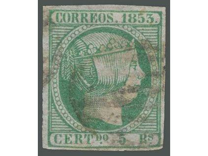 1853, 5 R Isabella, MiNr.20, razítkované