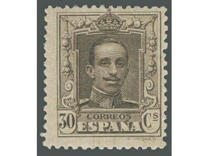 1922, 30C Alfons, MiNr.291A, * po nálepce