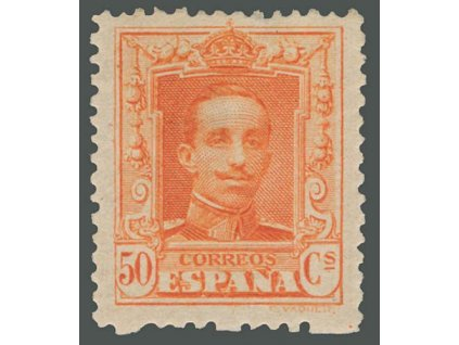 1922, 50C Alfons, MiNr.293A, * po nálepce