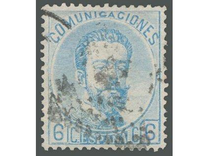1872, 6C Amadeo, MiNr.112, razítkované, lehký lom