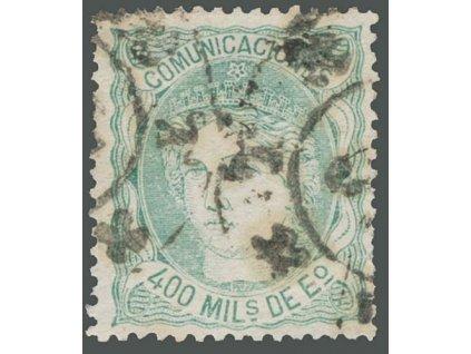 1870, 400 M Hispania, MiNr.104, razítkované, kzy