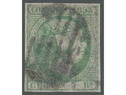 1853, 5 R Isabella, MiNr.20, razítkované, nepatrný ohyb