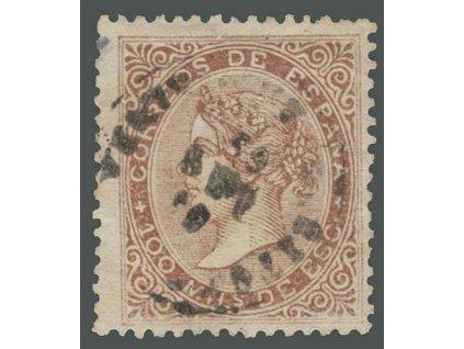 1868, 100 M Isabella, MiNr.94, razítkované