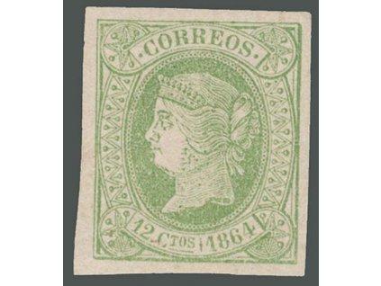 1864, 12 Cs Isabella, MiNr.57, * po nálepce