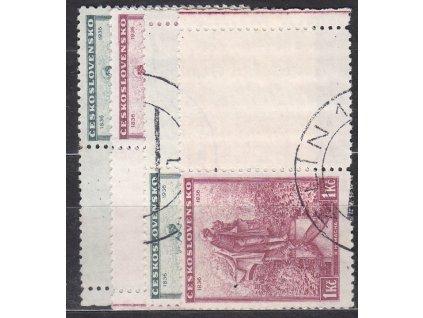 1936, 50h-1Kč Mácha, L+P kupony, Nr.298-9, razítkované, ilustrační foto