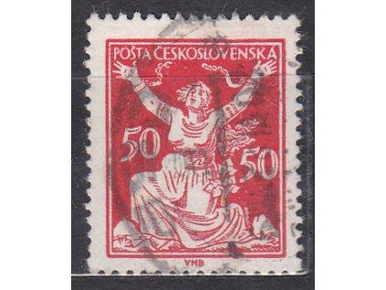 50h červená, DV - vajíčko, Nr.155, razítkované, ilustrační foto