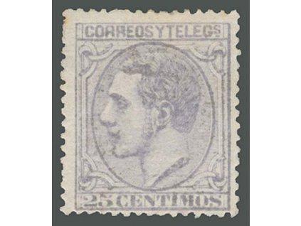 1879, 25C Alfons, MiNr.180, * po nálepce, skvrnky v lepu - běžné