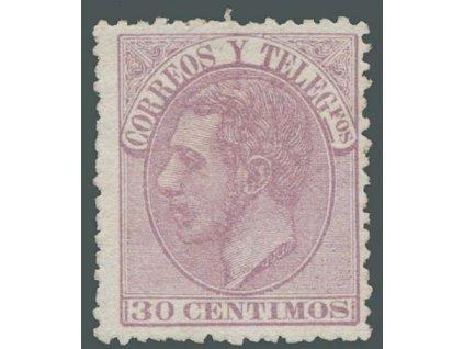 1882, 30C Alfons, MiNr.187, (*) , dv