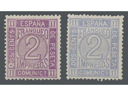 1872, 2C Zeitungsmarken, MiNr.110a,b, * po nálepce, dv