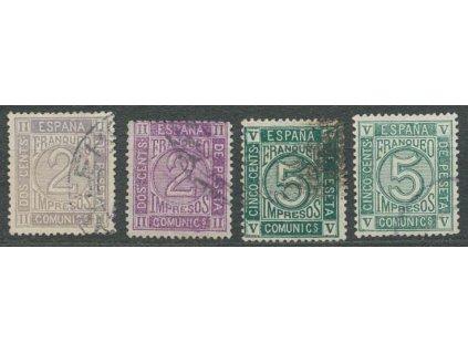 1872, 2-5C Zeitungsmarken, odstíny, Nr.110a,b,111, razítkované