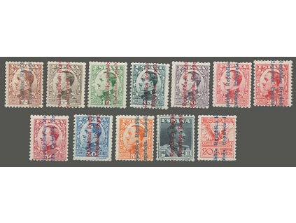 1931, 2C-1Pta série, MiNr.571-80,581, * po nálepce