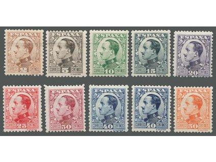 1930, 2-50 C série Alfons, MiNr.562-68,569I,569II,570, těžší *