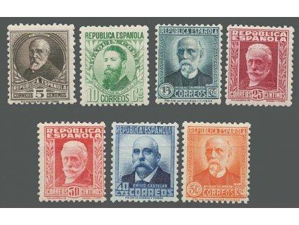 1931, 5-50 C série Osobnosti, MiNr.618-25, */**