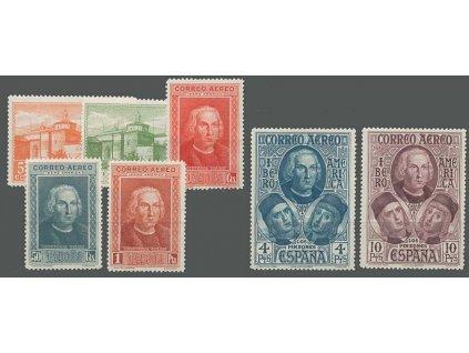 1930, 5C-10Pta série Kolumbus, MiNr.530-36, **/*