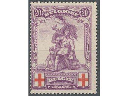 1914, 20C Červený kříž, MiNr.106, * po nálepce