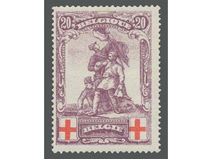 1914, 20C Červený kříž, falzum, MiNr.106, * po nálepce