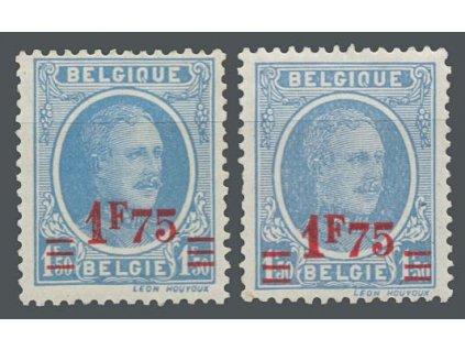 1927, 1.75Fr/1.50Fr Albert, 2 kusy - odstíny barev, MiNr.226, **