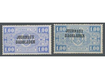 1929, 1 Fr Zeitungspaketmarken, MiNr.27,28, **/*