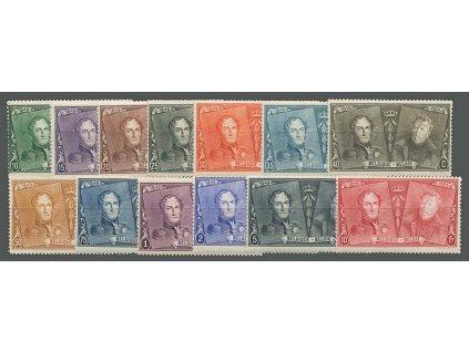 1925, 10C-10Fr série Výročí známky, MiNr.191-203, */**