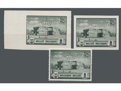 1941, 10Fr známka z aršíku, 3 varianty, MiNr.594,595, **