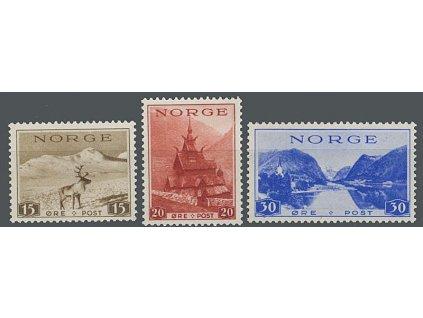 1938, 15-30Q série Výjevy, MiNr.195-97, **