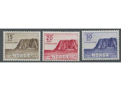 1943, 15-30Q série Nordkap, MiNr.284-86, **