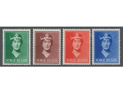 1939, 10-30Q série Královna Maud, MiNr.203-6, **