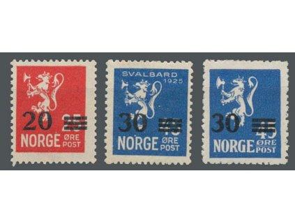 1927, 20Q/25Q-30Q/45Q série, MiNr.133-35, **
