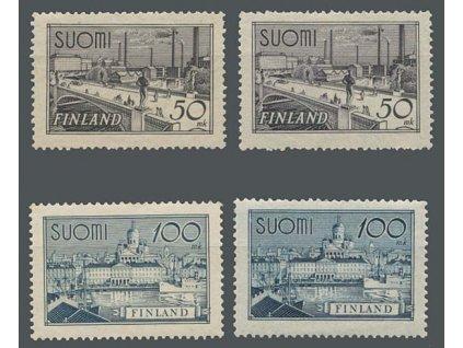 1942, 50-100M série, MiNr.259a,b,260a,b, * po nálepce