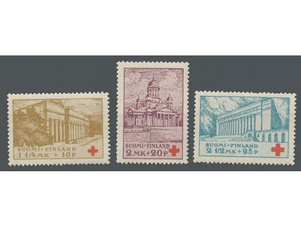 1932, 1 1/4M-2 1/2M série Červený kříž, MiNr.173-75, **