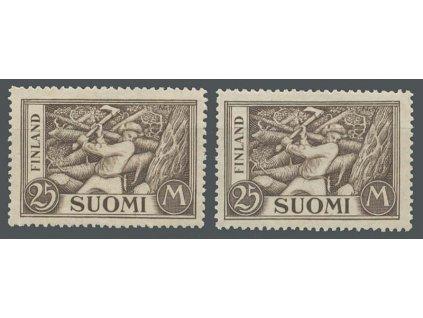 1930, 25 M Dřevorubec, 2 kusy, MiNr.157b,c, **