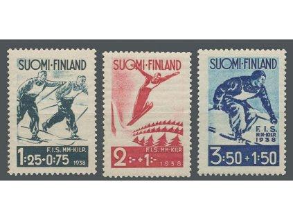 1938, 1.25-3.50M série Zimní sporty, MiNr.208-10, **