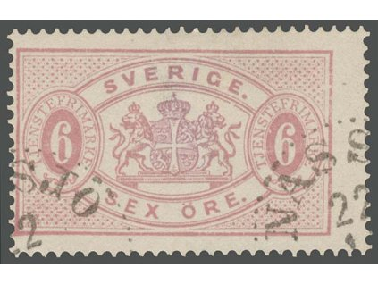 1874, 6 Ö služební, MiNr.4B, razítkované