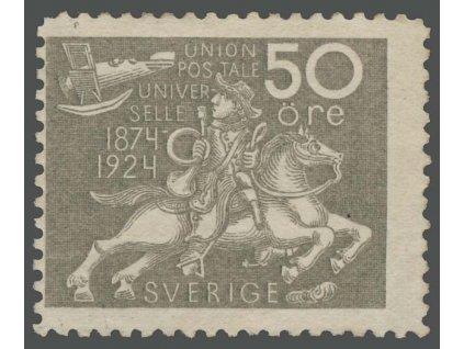 1924, 50 Ö UPU, MiNr.168W, * po nálepce