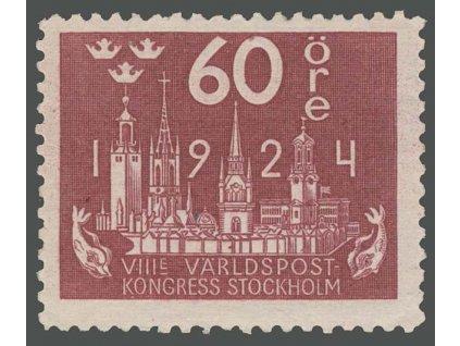 1924, 60 Ö Poštovní kongres, MiNr.154W, **