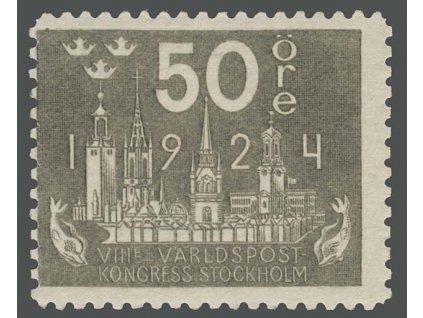 1924, 50 Ö Poštovní kongres, MiNr.153W, **
