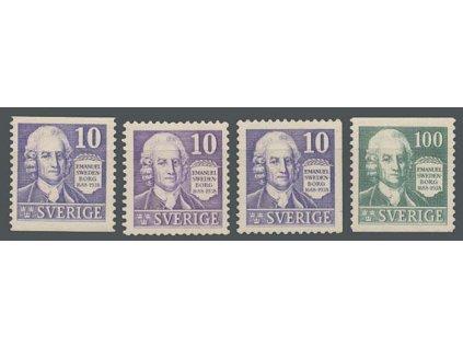 1938, 10-100 Ö série Swedenborg, MiNr.243-44, **/*