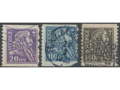 1921, 20-140 Ö série Wasa, MiNr.141-43, razítkované