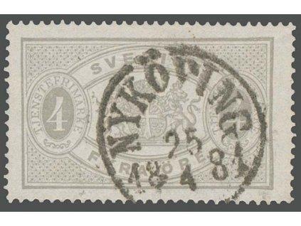 1874, 4 Ö služební, MiNr.2A, razítkované, dv