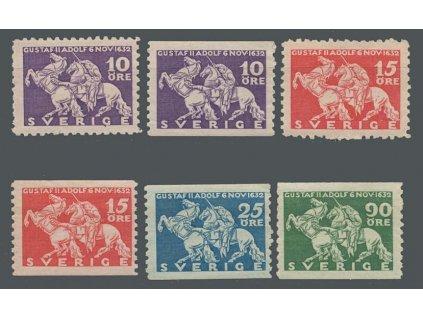 1932, 10-90 Ö série Král Gustaf, MiNr.216-19, **